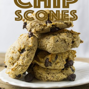 Paleo Chocolate Chip Scones (Grain, Dairy, Egg and Soy Free)