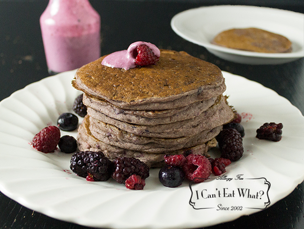 Buckwheat Berry Pancakes (gluten, dairy, soy, egg free and vegan)