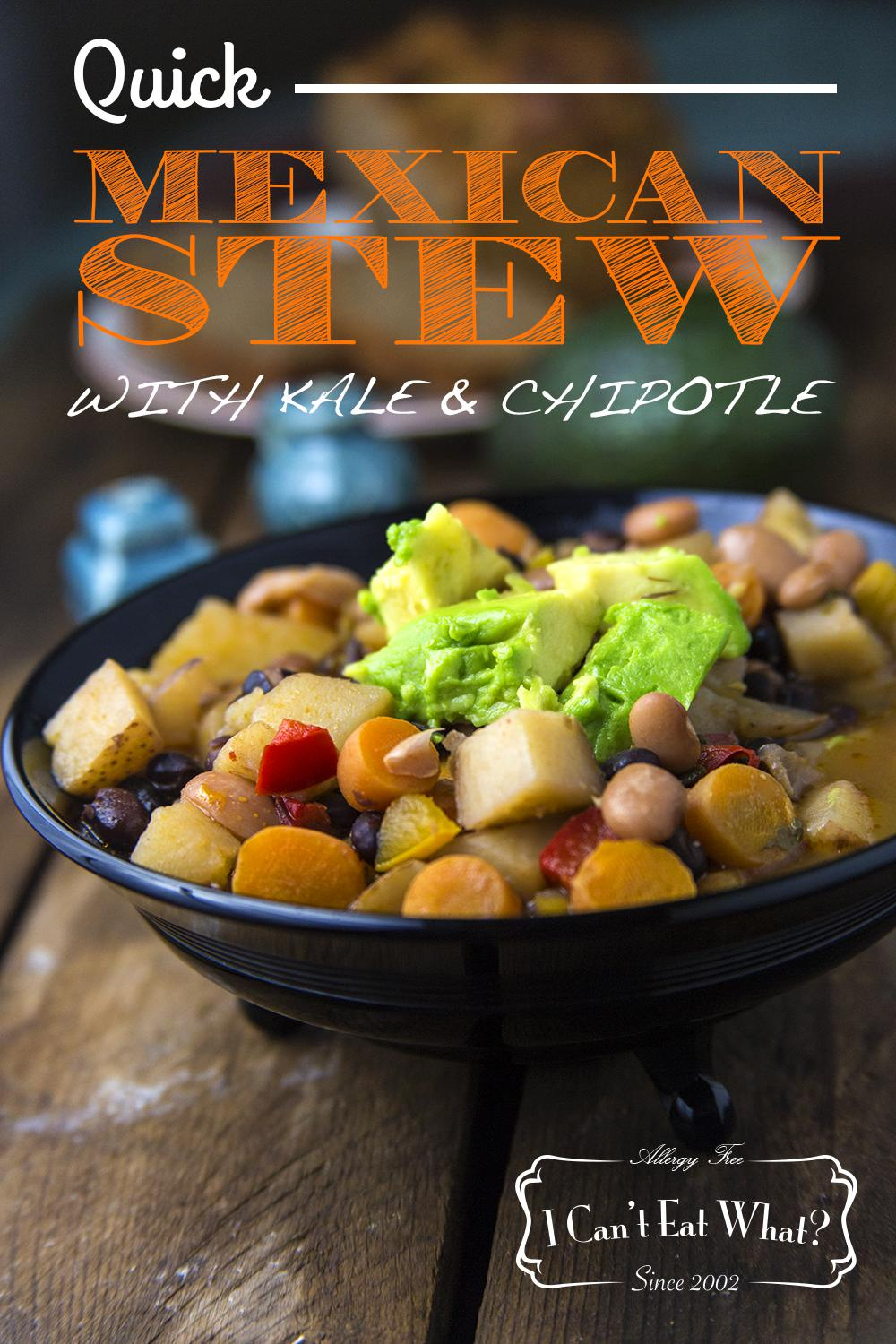 Quick Mexican Stew with Kale and Chipotle
