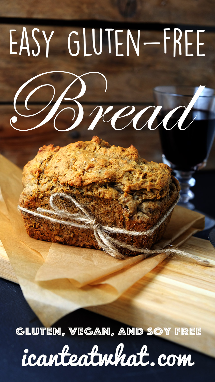 Easy Gluten Free Bread (Vegan/Yeast Free)