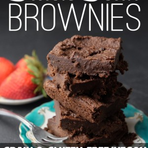 Decadent Vegan Black Bean Brownies - Grain Free (with nut-free option)